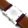 Heure H Steel with Diamond Bezel and Markers on Violet Epsom Leather Strap