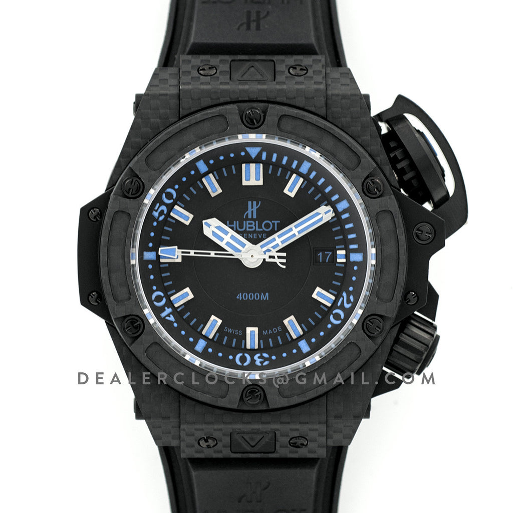 King Power Oceanographic 4000m Diver Carbon All Black Blue
