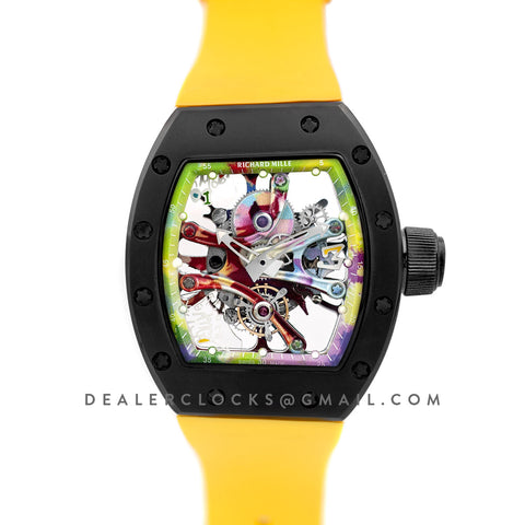 RM 068-01 Tourbillon Cyril Kongo on Yellow Rubber Strap