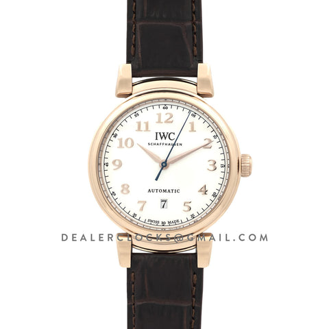 Da Vinci Automatic Edition '150 Years' IW3566 White Dial in Rose Gold