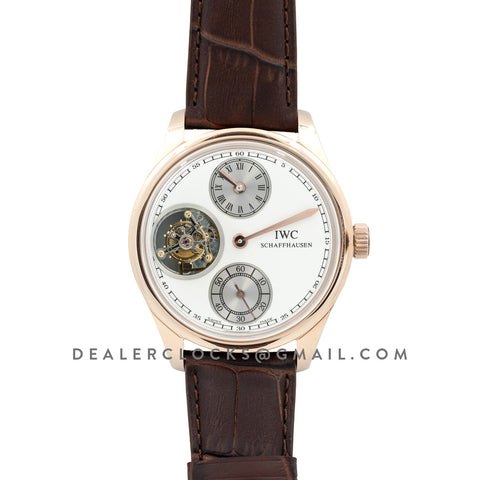 Portuguese Regulator Tourbillon IW5446 White Dial in Rose Gold