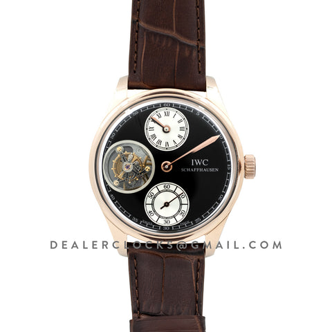 Portuguese Regulator Tourbillon IW5446 Grey Dial in Rose Gold