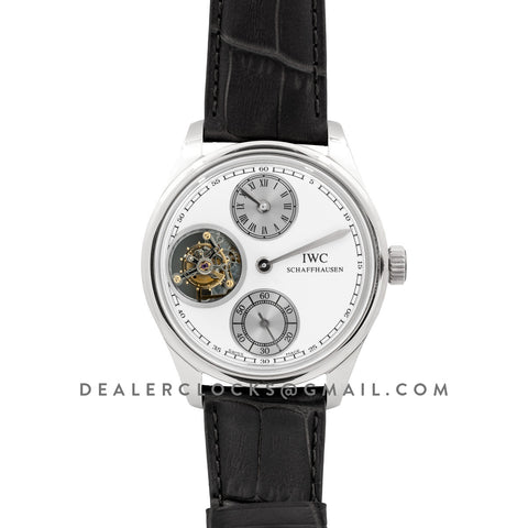 Portuguese Regulator Tourbillon IW544601 White Dial in White Gold