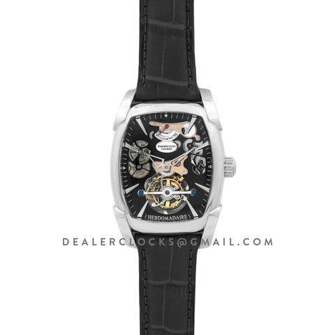 Kalpa Grande Tourbillon Black Dial in Steel on Black Leather Strap