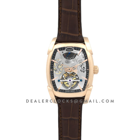 Kalpa Grande Tourbillon Silver Dial in Rose Gold on Brown Leather Strap