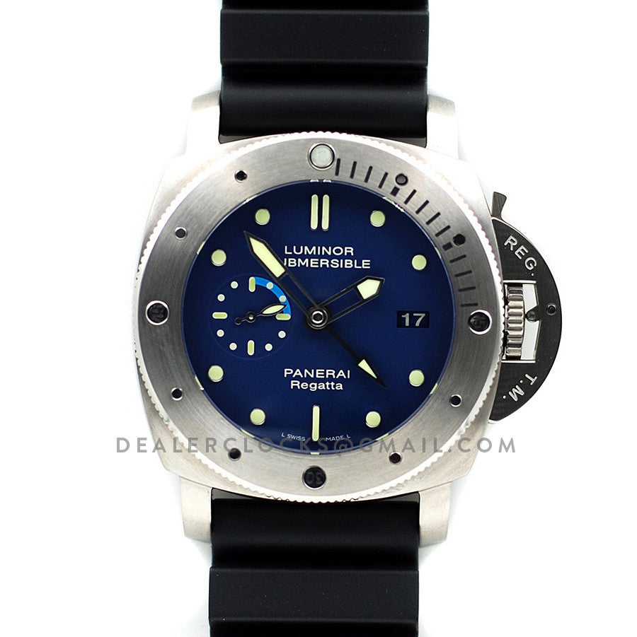 PAM371 Luminor Submersible 1950 Regatta 3 Days GMT Automatic Titanio
