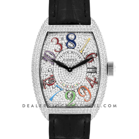 Crazy Hours White Diamond Dial With Colourful Markers in Steel