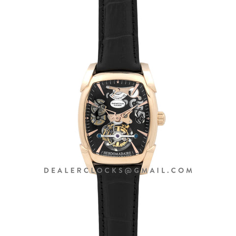 Kalpa Grande Tourbillon Black Dial in Rose Gold on Black Leather Strap