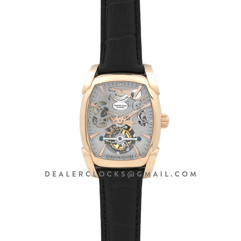 Kalpa Grande Tourbillon Grey Dial in Rose Gold on Black Leather Strap