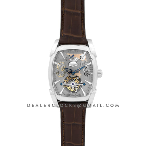 Kalpa Grande Tourbillon Grey Dial in Steel on Brown Leather Strap