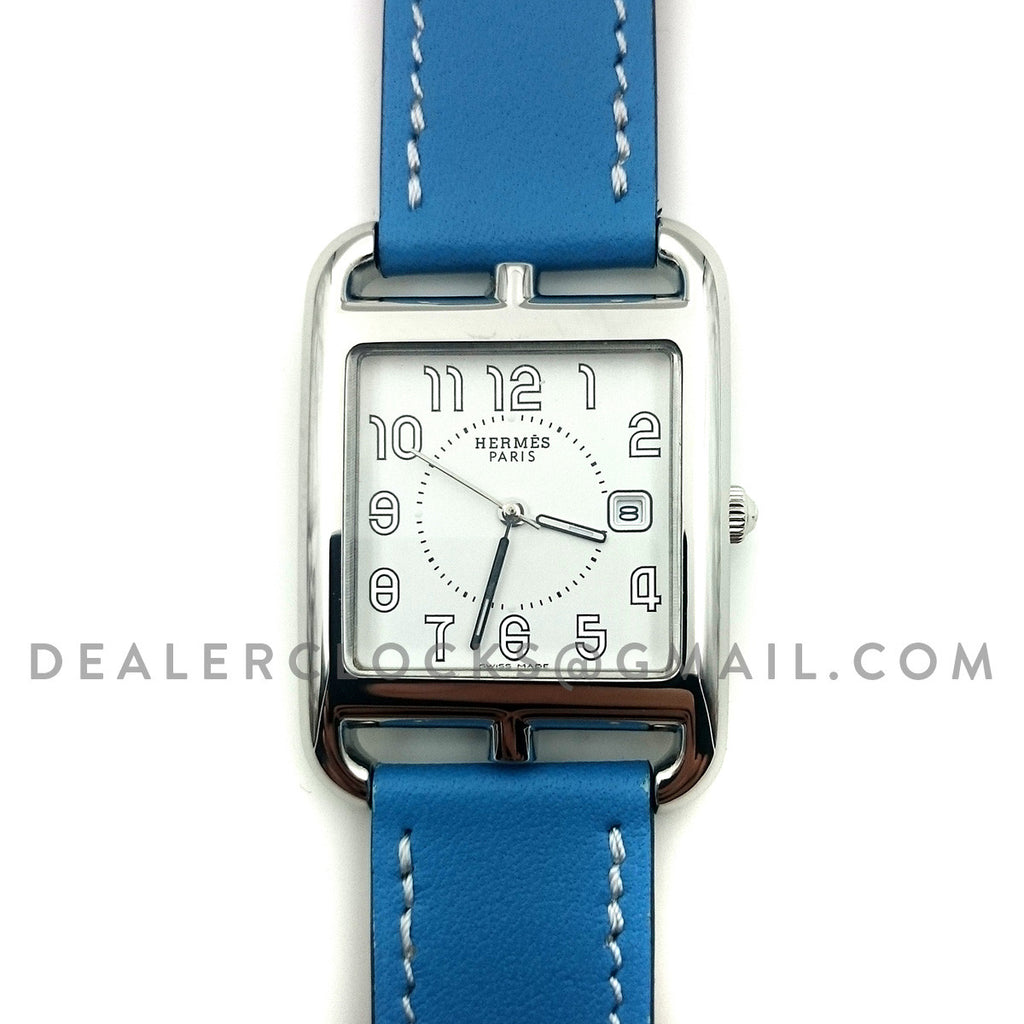 Cape Cod GM Quartz Steel on Light Blue Fjord Leather Strap