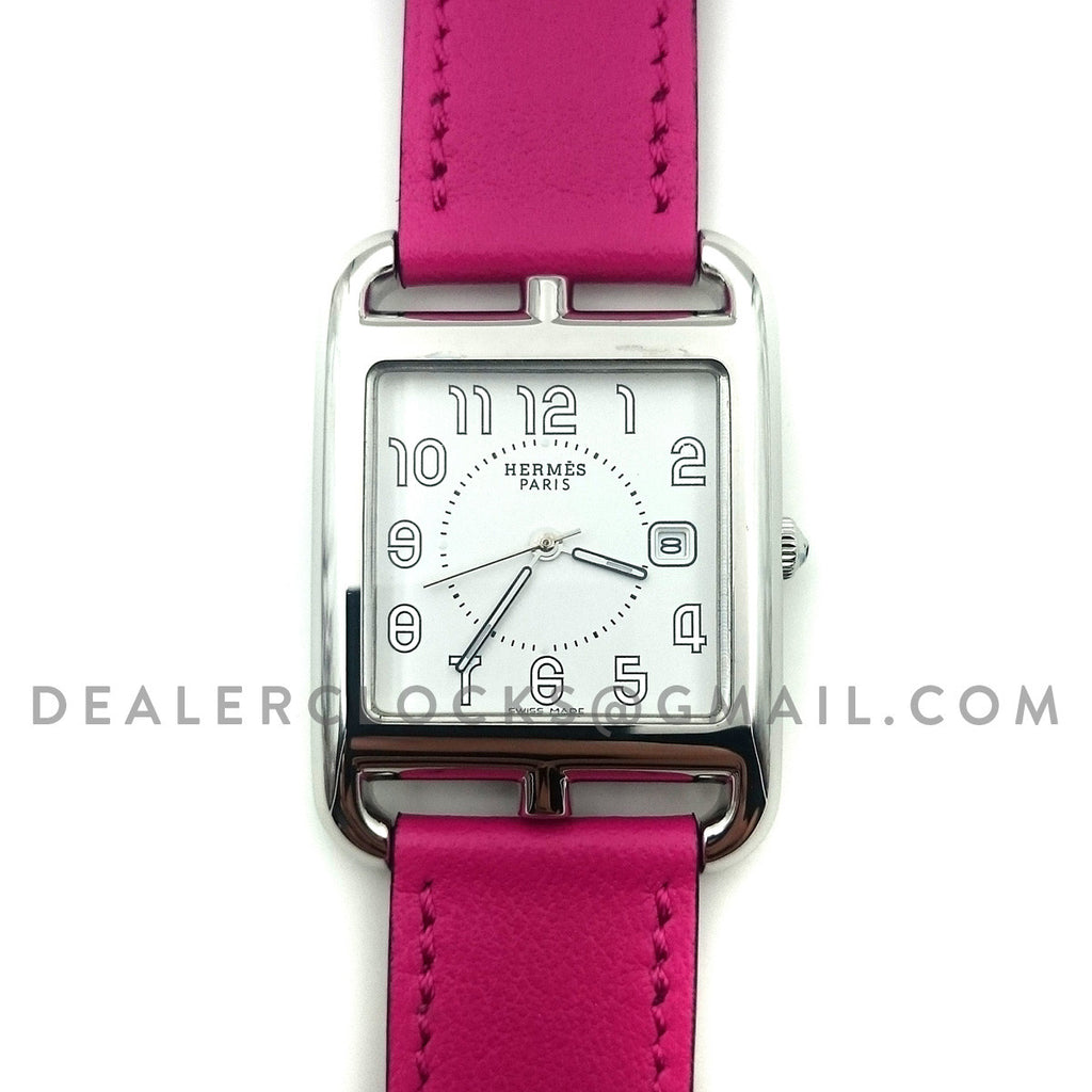 Cape Cod GM Quartz Steel on Pink Fjord Leather Strap