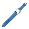 Heure H Steel with Diamond Markers on Light Blue Fjord Leather Strap