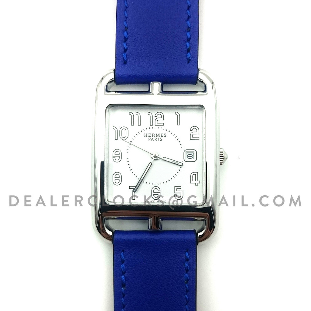 Cape Cod GM Quartz Steel on Blue Fjord Leather Strap