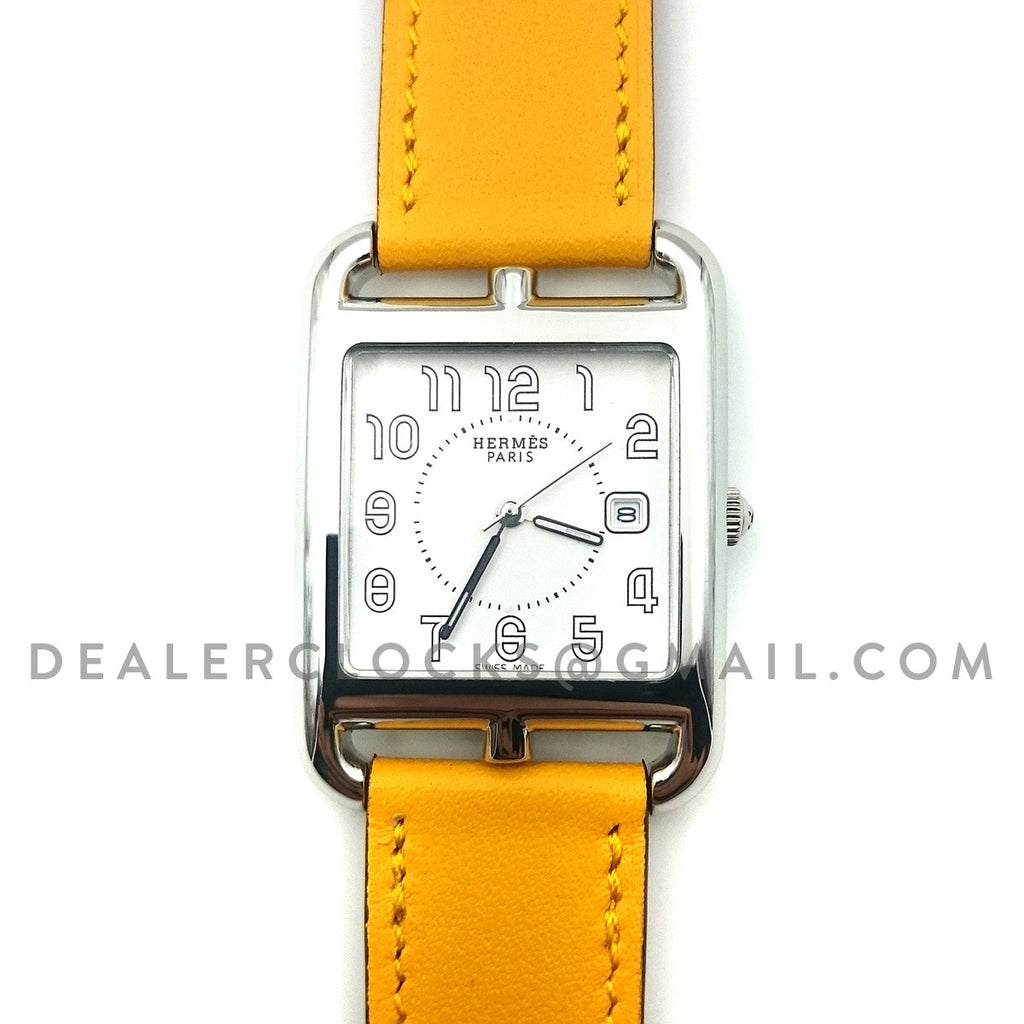 Cape Cod GM Quartz Steel on Yellow Fjord Leather Strap