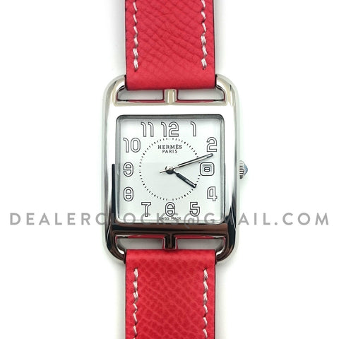 Cape Cod GM Quartz Steel on Vermilion Epsom Leather Strap