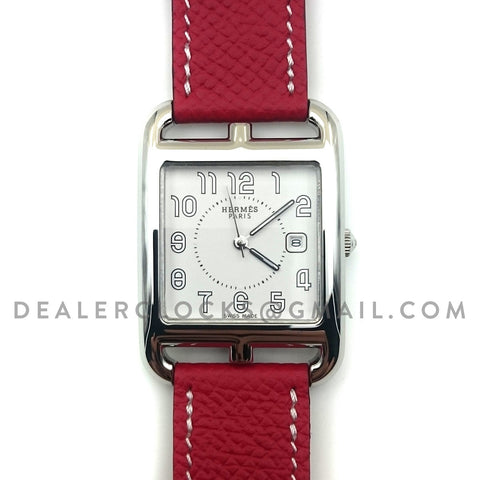 Cape Cod GM Quartz Steel on Red Epsom Leather Strap