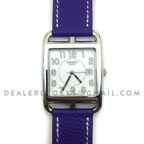 Cape Cod GM Quartz Steel on Purple Epsom Leather Strap