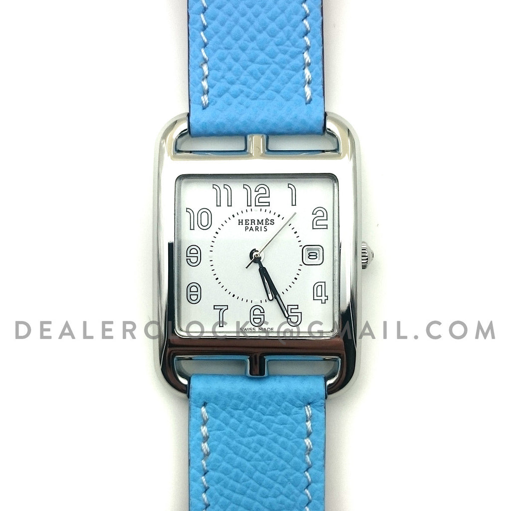 Cape Cod GM Quartz Steel on Light Blue Epsom Leather Strap