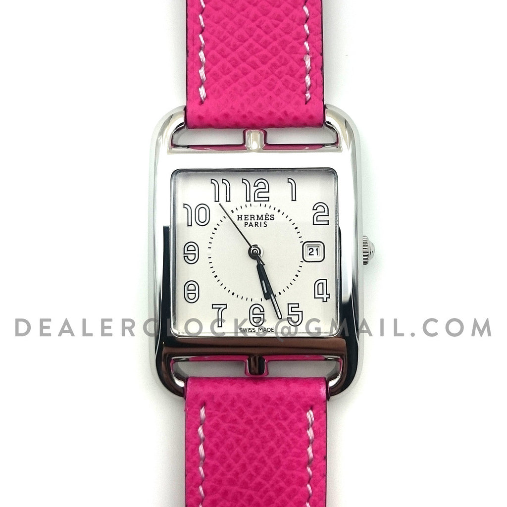 Cape Cod GM Quartz Steel on Pink Epsom Leather Strap