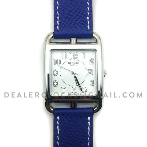 Cape Cod GM Quartz Steel on Blue Epsom Leather Strap