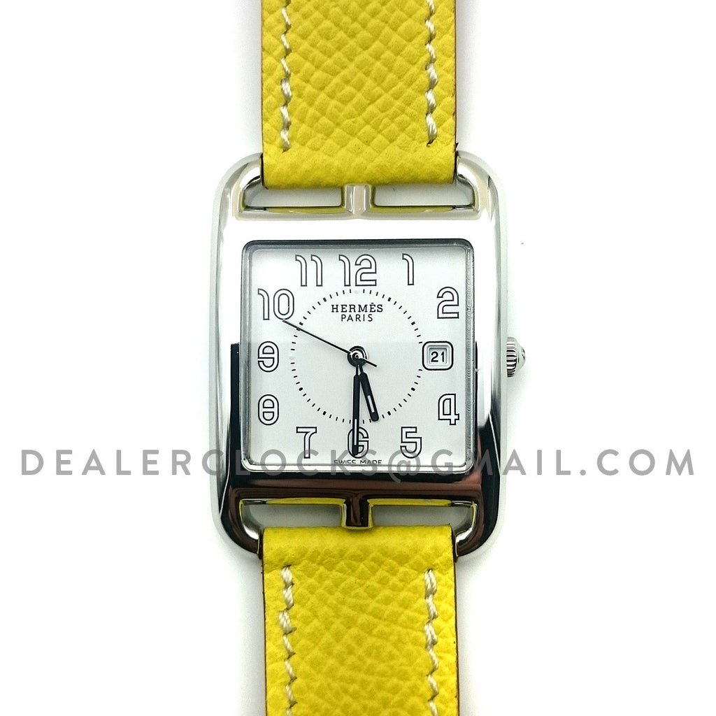 Cape Cod GM Quartz Steel on Yellow Epsom Leather Strap