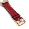 Cape Cod GM Quartz Rose Gold with Diamond Bezel on Red Epsom Leather Strap
