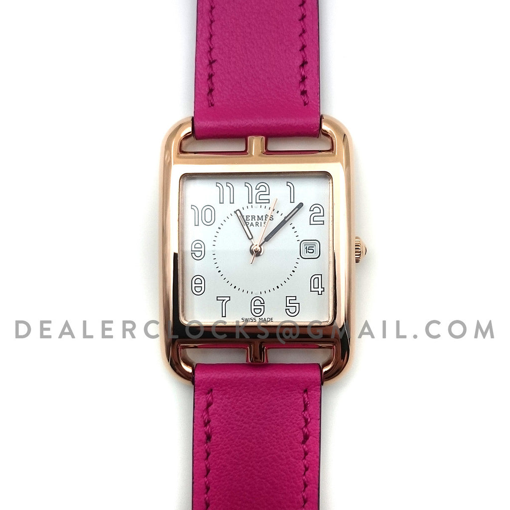 Cape Cod GM Quartz Rose Gold on Pink Fjord Leather Strap