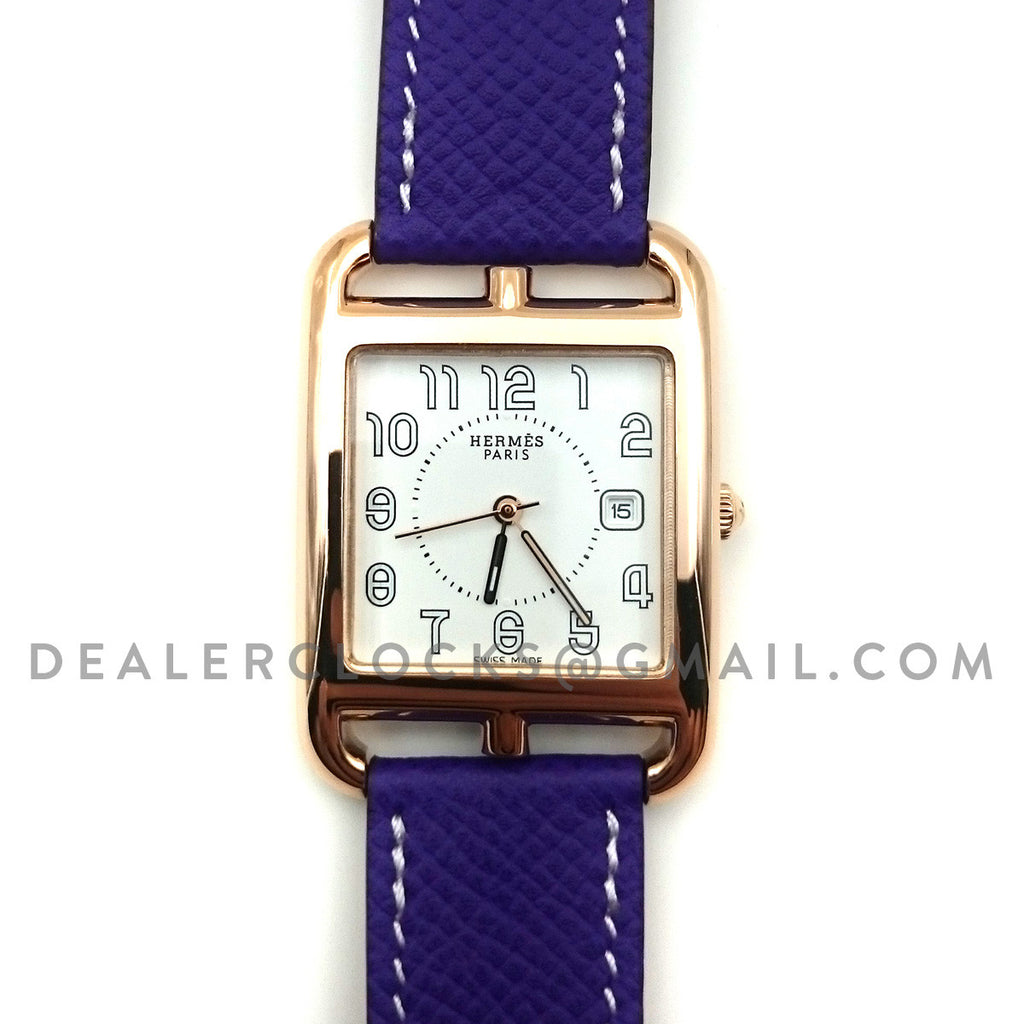 Cape Cod GM Quartz Rose Gold on Purple Epsom Leather Strap