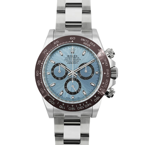 Daytona 116506 Platinum Ice Blue Dial in White Gold