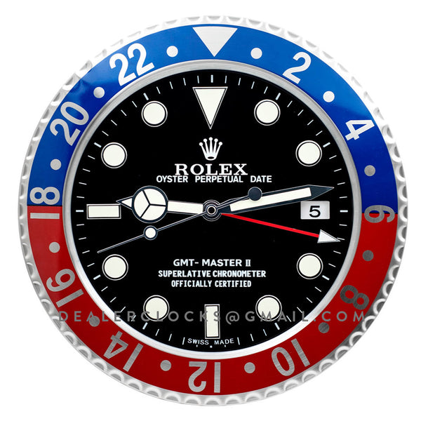 Rolex Gmt Master Ii Wall Clock Rx102 Dealer Clocks