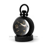 Pam 581 Table Clock 8 Days in Black DLC