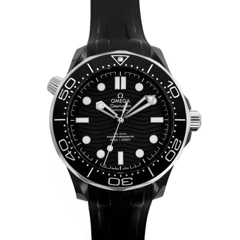 Seamaster Diver 300M Co-Axial Master Chronometer Black Dial 43.5mm on Black Rubber Strap