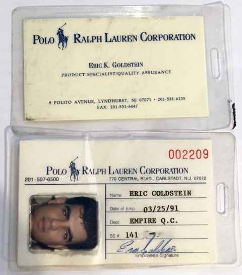 Eric's Polo corporate ID and business card
