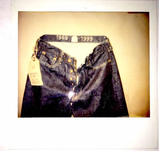A polaroid of one of Eric's first developments for Gap 1969