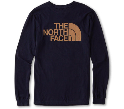 Half Dome Long Sleeve Tee - Navy Tops The North Face Navy S
