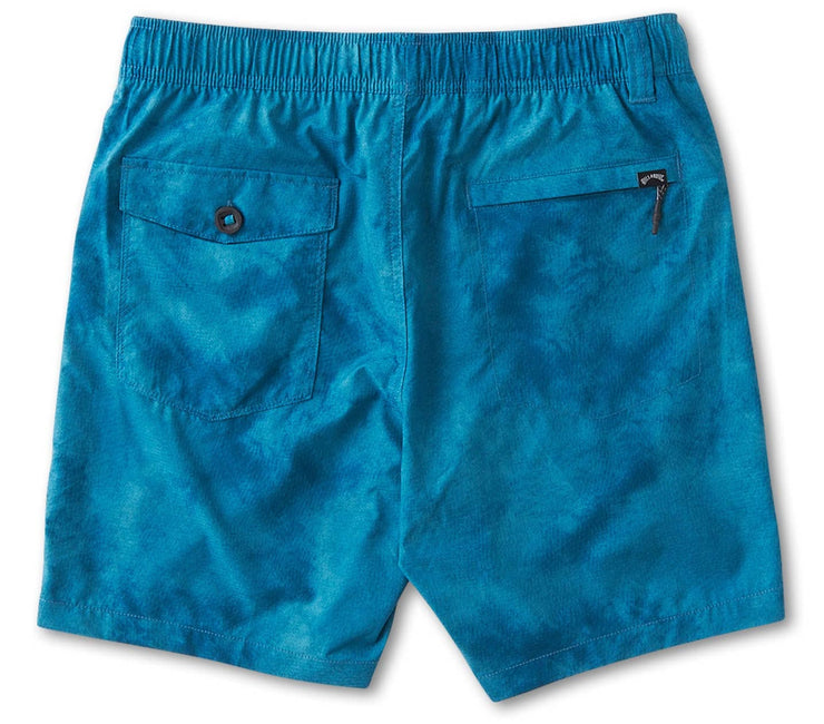 Surtrek Perf Elastic Walkshorts - Teal Tie Dye Bottoms Billabong