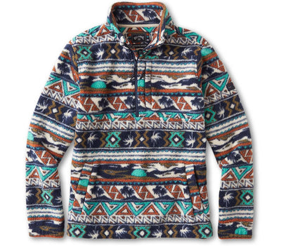 Boundary Mock Polar Fleece - Multi Outerwear Billabong Multi S