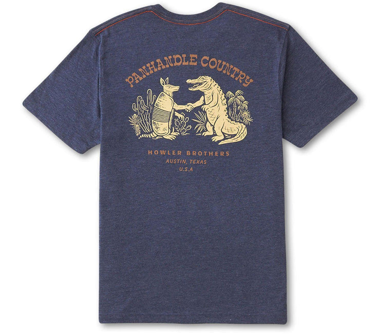 Panhandle Country Pocket Tee - Navy Tops Howler Bros Navy S