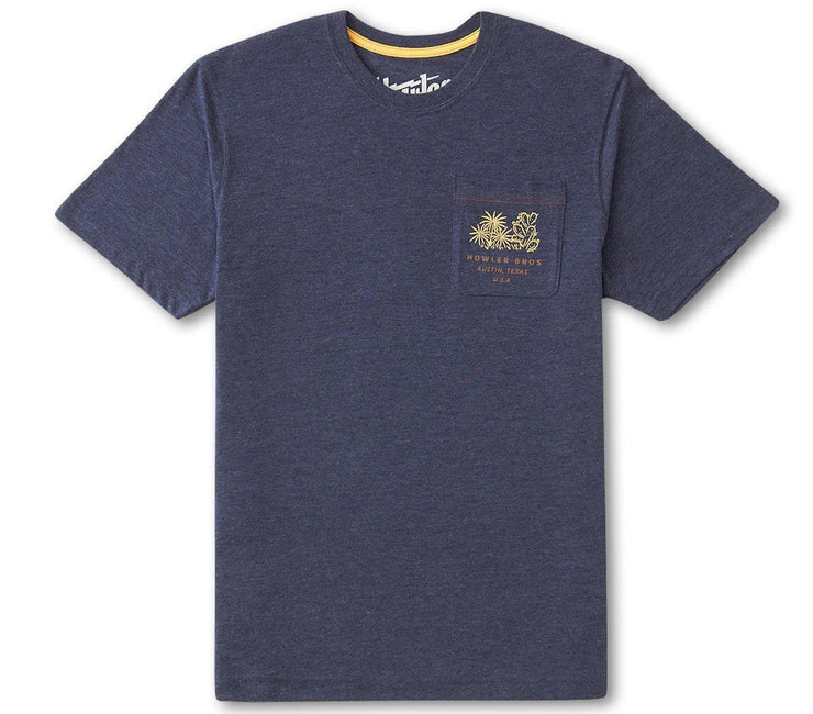 Panhandle Country Pocket Tee - Navy Tops Howler Bros
