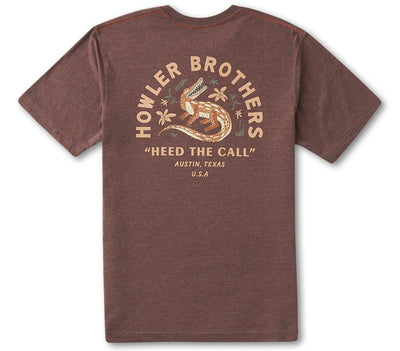 Lazy Gators Pocket Tee - Espresso Tops Howler Bros Espresso S