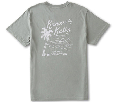 Vintage Beachside Tee - Gray Green Tops Katin Gray Green S