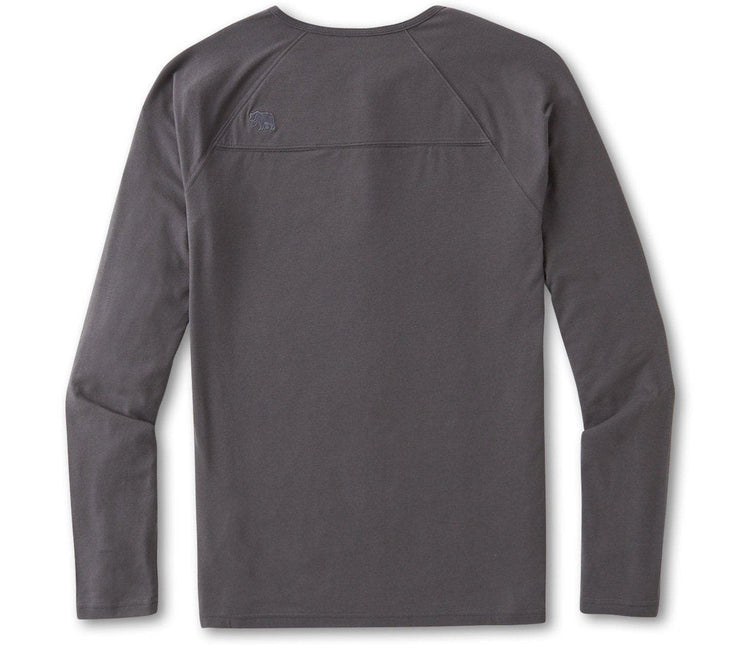 Active Puremeso Long Sleeve Henley - Steel Tops The Normal Brand