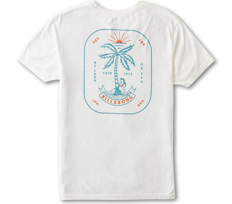 Lady Palm Tee - Off White Tops Billabong Off White S