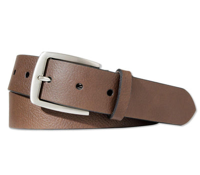BOULDIN Belt - Horween Brown Textured Leather Accessories BOULDIN Brown Textured 32
