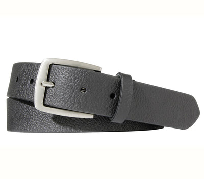 BOULDIN Belt - Horween Black Textured Leather Accessories BOULDIN Black Textured 32