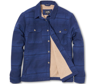 Coastline Sherpa-Lined Shirt-Jacket Outerwear Billabong