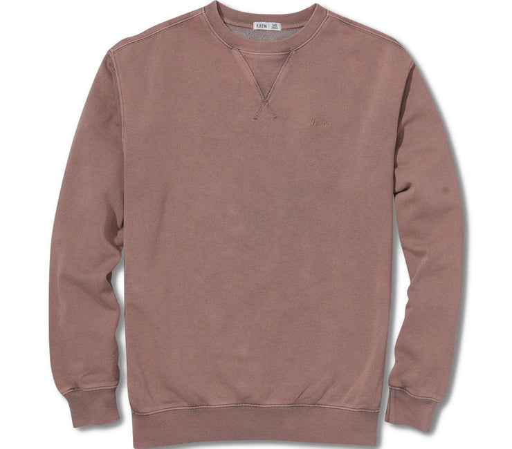 Mineral Crew Sweatshirt - Dark Clay Outerwear Katin Dark Clay S