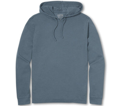 Hide Knit Hoodie Tee - Overcast Blue Tops Katin Overcast S