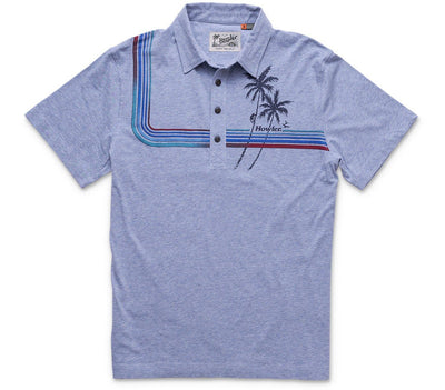 Palm Climber Rookery Polo - Blue Heather Tops Howler Bros Blue Heather S